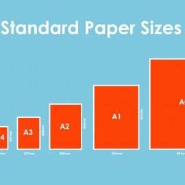 ขนาดของกระดาษตามมาตรฐานโรงพิมพ์